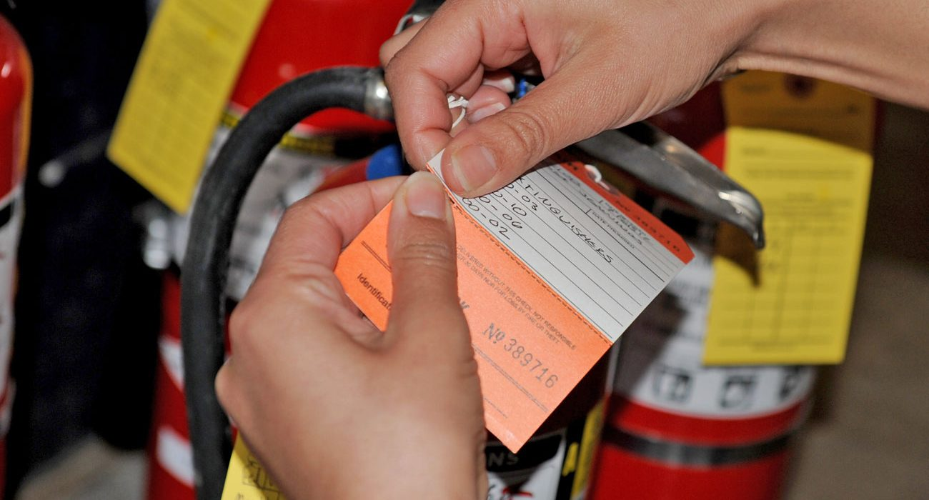 hydrostatic testing of fire extinguishers