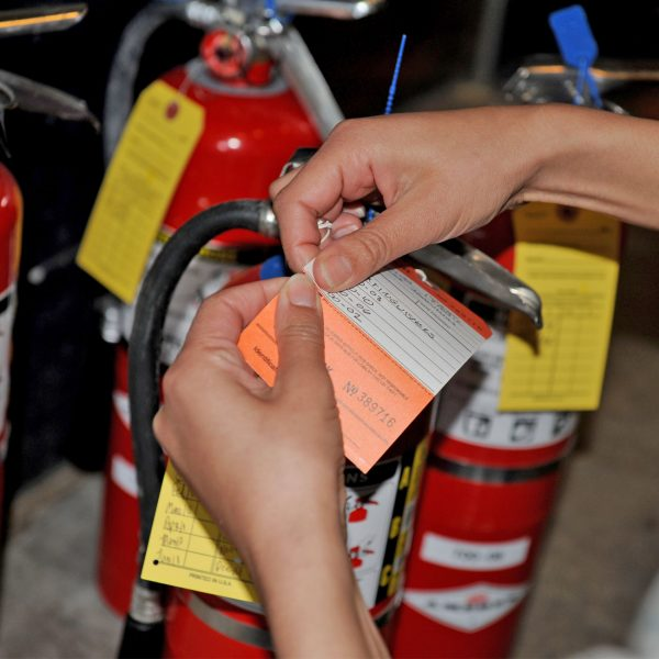 hydrostatic testing of fire extinguishers